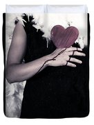 Lady With Blood And Heart Duvet Cover by Joana Kruse