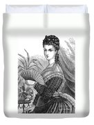 Lady With Fan, C1878 Duvet Cover