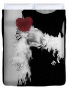 Lady With Heart Duvet Cover by Joana Kruse