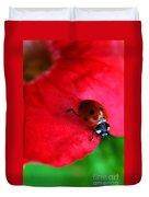 Ladybird On Petal Duvet Cover