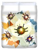 Ladybug Illustration Duvet Cover