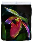 Lady's Slipper Duvet Cover by Judi Bagwell