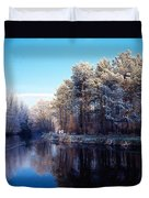 Lagan Meadows During Winter, Belfast Duvet Cover