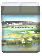 Lagoon In Spain Duvet Cover