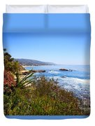 Laguna Beach California Coastline Duvet Cover