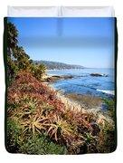 Laguna Beach Coastline Photo Duvet Cover