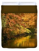 Lake And Forest In Autumn Duvet Cover