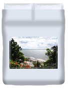 Lake Erie Beach At Sturgeon Point Duvet Cover