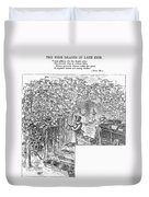 Lake Erie: Vineyard, 1873 Duvet Cover