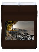 Lake Front With Autumn Trees Duvet Cover