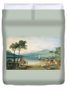 Lake Geneva And Mont Blanc Duvet Cover by Joseph Mallord William Turner
