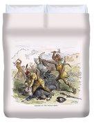 Lake George: Massacre, 1757 Duvet Cover