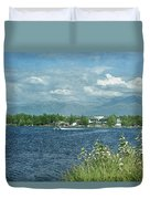 Lake Hood Anchorage Alaska Duvet Cover