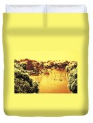 Lake In India Duvet Cover