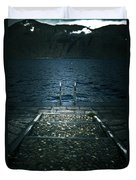 Lake In The Winter Duvet Cover