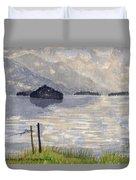 Lake Kilarney Ring Of Kerry Watercolour Painting Duvet Cover