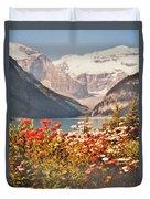 Lake Louise Alberta Duvet Cover