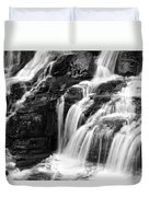 Lake Mcdonald Falls Glacier National Park Duvet Cover