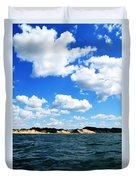 Lake Michigan Shore With Clouds Duvet Cover by Michelle Calkins