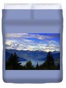 Lake Of Como View Duvet Cover