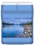 Lake Sherburne Shoreline Duvet Cover