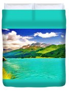 Lake Sils Duvet Cover
