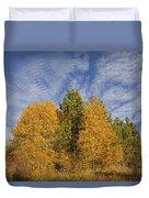 Lake Tahoe Aspen Sky Duvet Cover