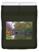 Lake Wingra Bridge Duvet Cover