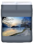 Lake With Ice Duvet Cover
