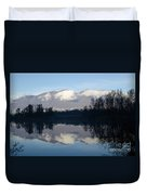 Lake With Mountain Duvet Cover