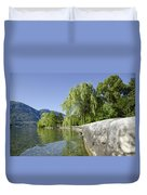 Lakefront With Trees Duvet Cover