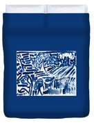Lakes Of Flowing Duvet Cover