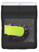 Lambda Phage On E. Coli Duvet Cover