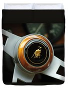 Lamborghini Steering Wheel Emblem Duvet Cover