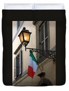 Lamp And Flag Duvet Cover