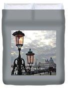 Lamp At Venice Duvet Cover