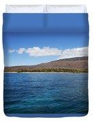 Lanai Coastline Duvet Cover