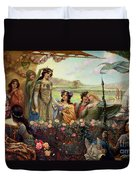 Lancelot And Guinevere Duvet Cover