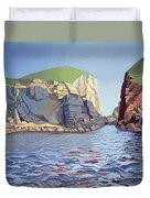 Land And Sea No I - Ramsey Island Duvet Cover