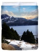 Land With A View Painterly Duvet Cover