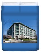 Landmark Life Savers Building I Duvet Cover by Clarence Holmes