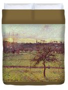 Landscape At Eragny Duvet Cover