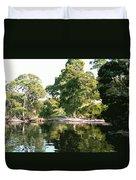 Landscape Tree Reflections Duvet Cover