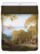 Landscape With View Of Lerici Duvet Cover