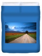 Lane Across Valley Duvet Cover