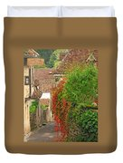 Lane And Ivy In St Cirq Lapopie France Duvet Cover