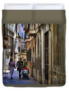 Lane In Palma De Majorca Spain Duvet Cover