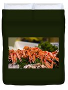 Langoustines At The Market Duvet Cover