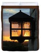 Lantern In The Sunset Duvet Cover