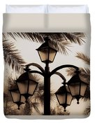 Lanterns And Fronds Duvet Cover